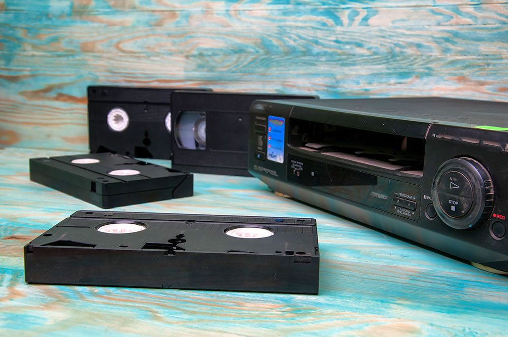 cine films on VHS tape