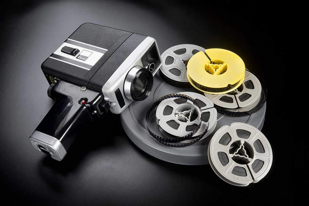 8mm cine film and camera