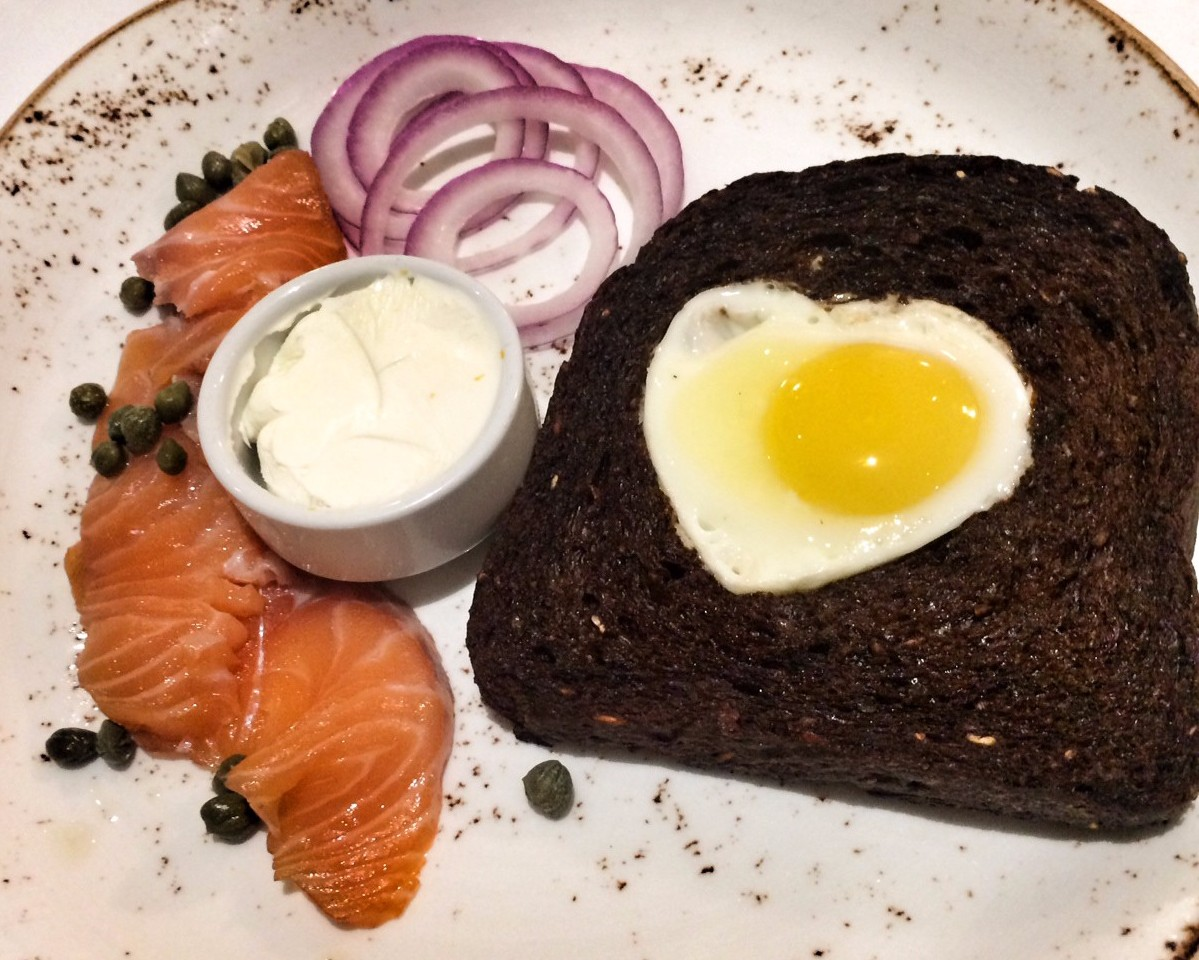 Egg in a Hole & Salmon