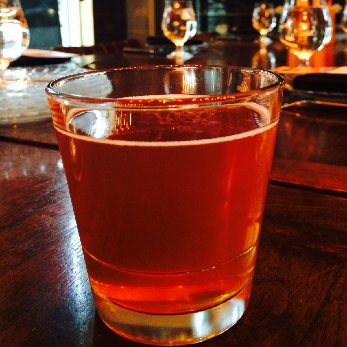 Deschutes River Ale GoldenAle from Deschutes Brewery Beer Dinner at Cook Hall Dallas