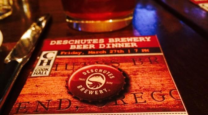 Cook Hall Beer Dinner featuring Deschutes Brewery