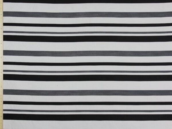 HARBING STRIPE BLACK WHITE