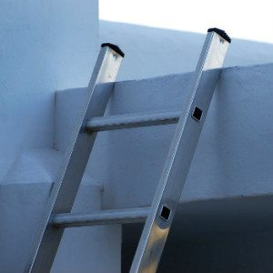 ladder which someone could fall from