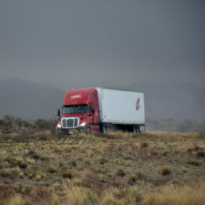 semi hauling holiday gifts across country
