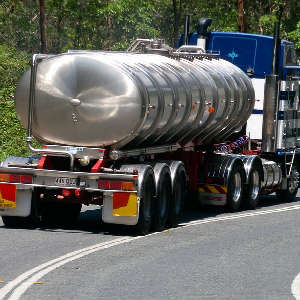 truck transporting flammable gas