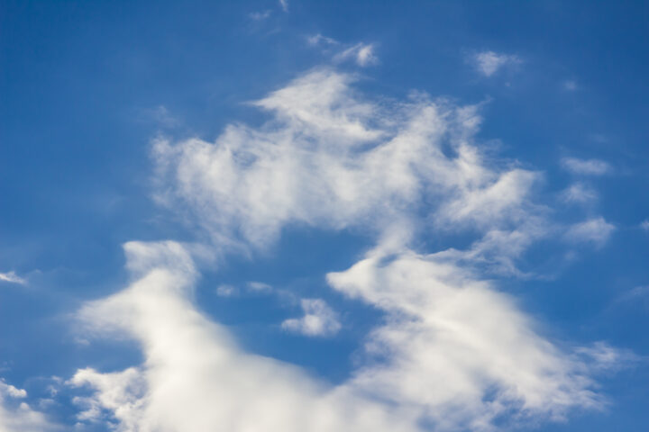 Picture of blue sky with white clouds.