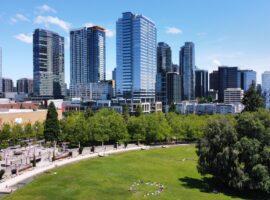 Downtown Bellevue City Skyline With Bellevue Downtown Park