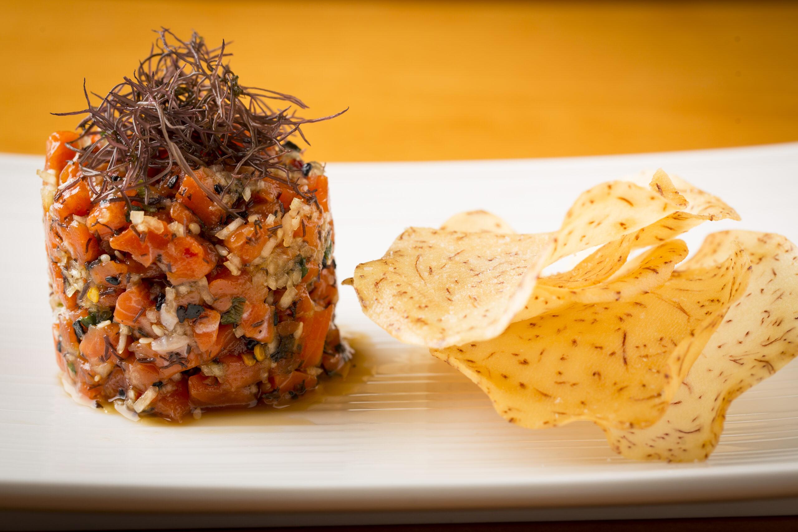 Salmon Poke Horiz at Seastar Restaurant and Raw Bar