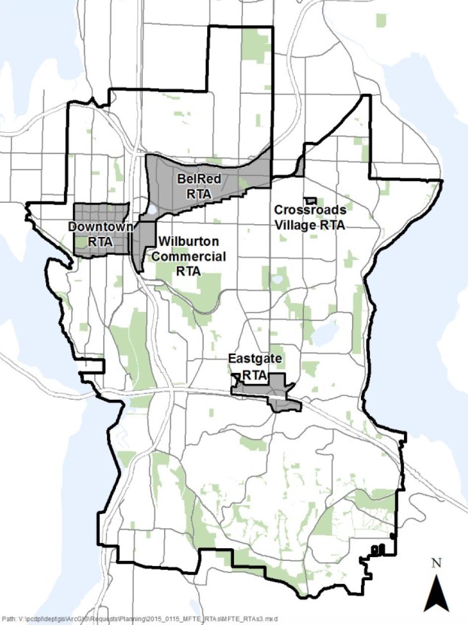 MFTE Bellevue Areas