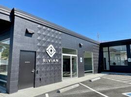 Rivian on 116th Ave NE in Bellevue