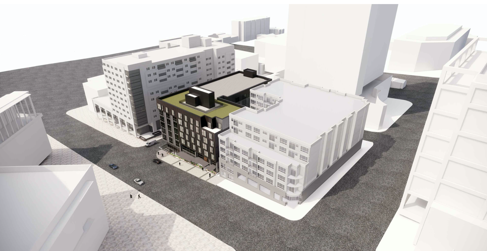 Rendering of 111th Ave NE Apartments in Downtown Bellevue