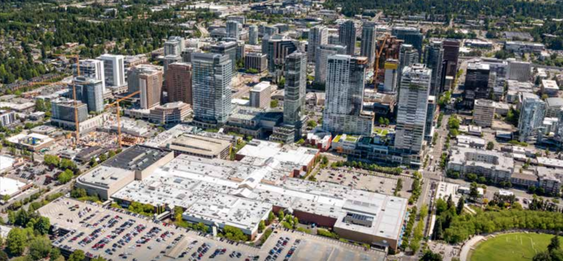 The Bellevue Collection today with 5.5 million square foot campus in Bellevue