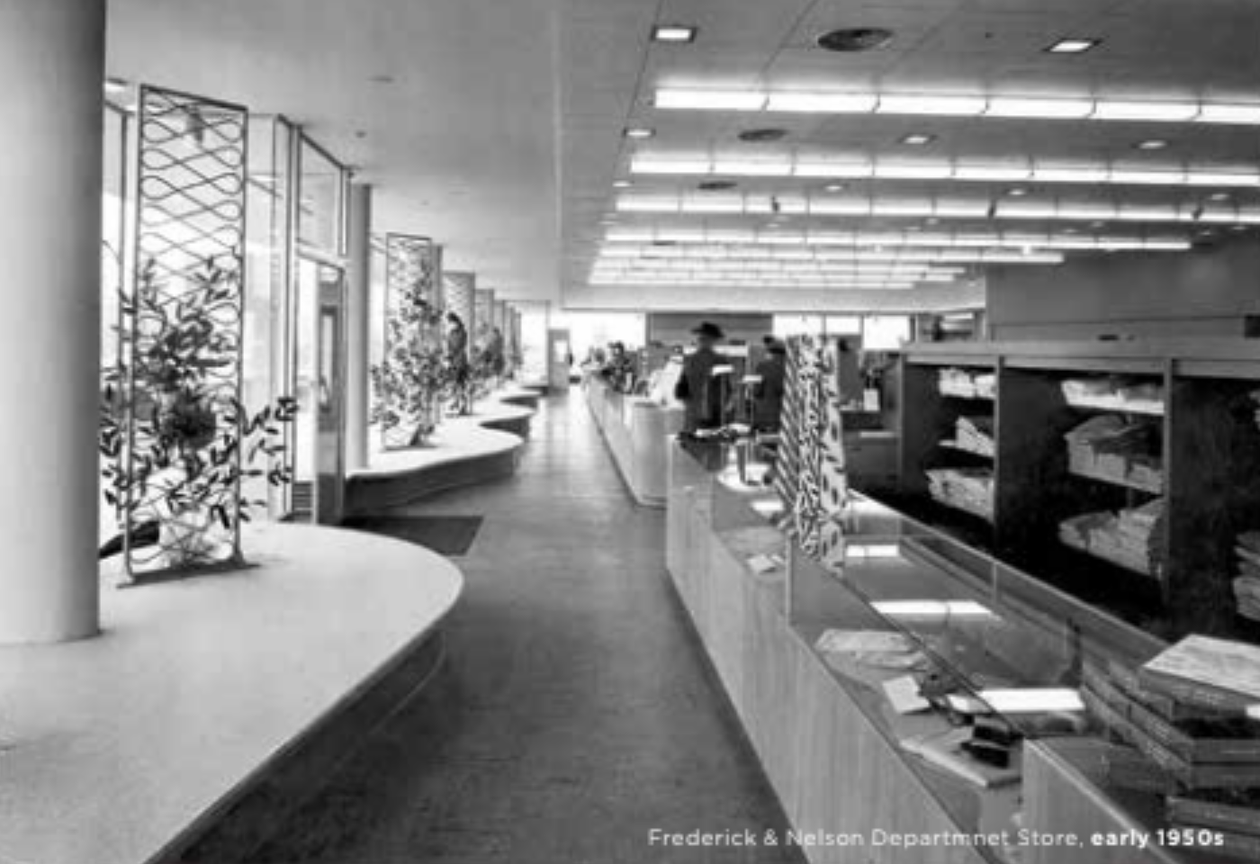 Fredrick & Nelson's Department Store in the early 1950s in Bellevue