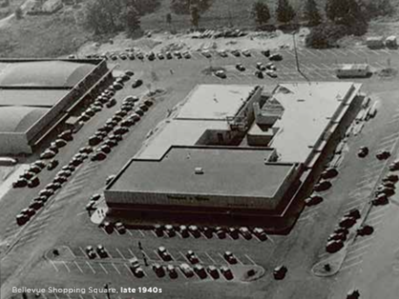 Bellevue Shopping Square in the late 1940s