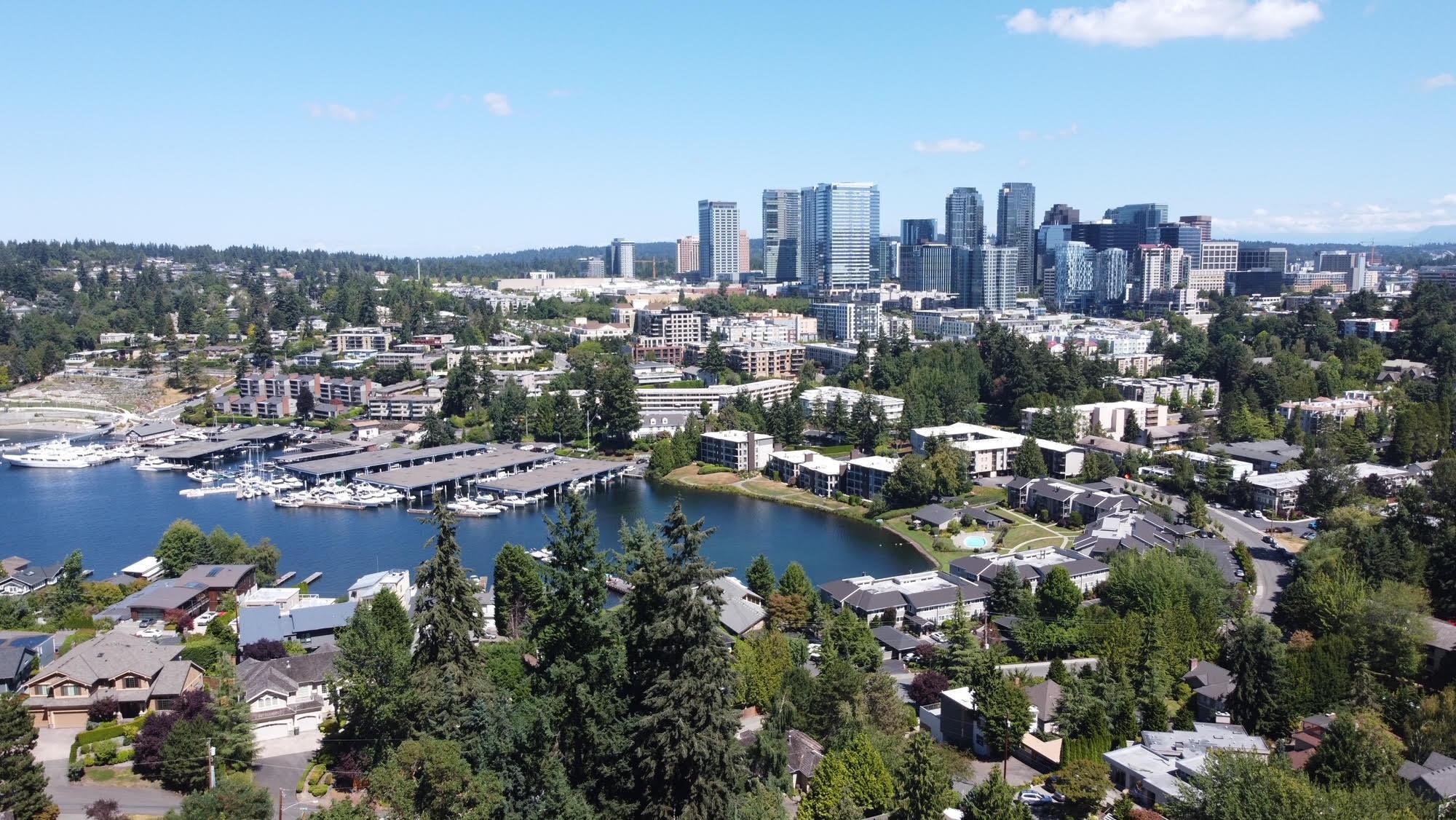 Birdseye view of Downtown Bellevue