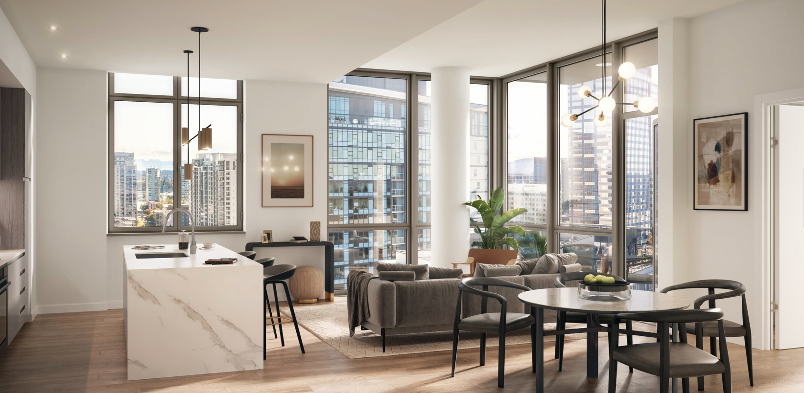 MARI, High-rise luxury condo building on NE 10th Street in Bellevue