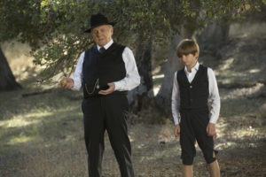 Photos (L-R): Anthony Hopkins, Oliver Bell (Credit for all: John P. Johnson/HBO)