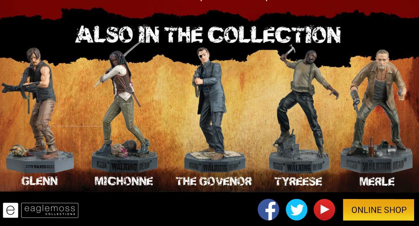 The Walking Dead collectible models from Eaglemoss Ltd exclusively from Tom Holland's terror Time