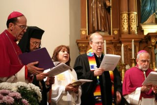 Religious Leaders at Opening Worship.   Photography by  J.D. Long-García of the Catholic Sun
