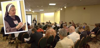 An Orientation for first time attendees at the National Workshop was led by Sister Dr. Lorelei Fuchs (Catholic) and Father Daniell Hamby (Episcopalian).