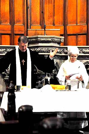 Rev. Dr. Sheldon Sorge and the Rev. Dr. Carolyn Jones