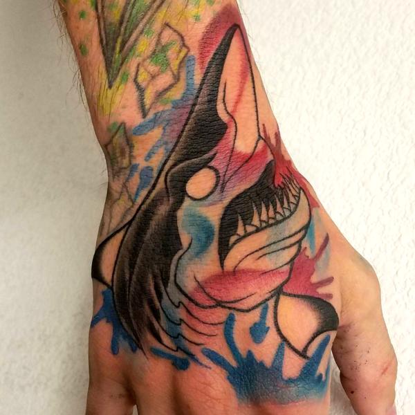 Brandon: Watercolor Shark