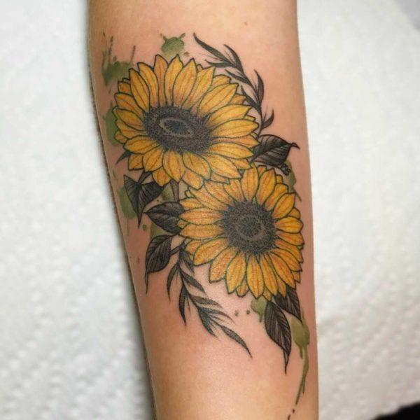 Dock: Watercolor Sunflowers