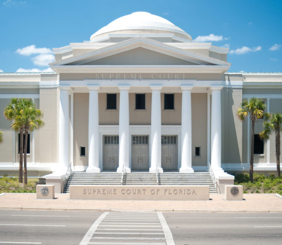 The Supreme Court of Florida building located in Tallahassee, FL.