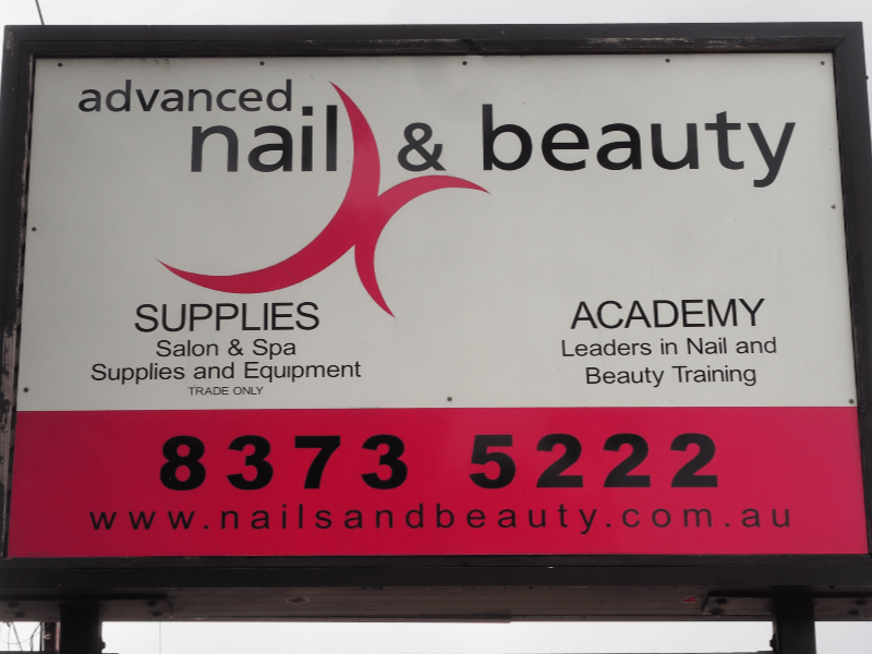 Advanced Nails and Beauty sign