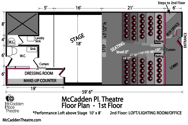 McCadden Pl. Theatre Floor Plan 1st Floor