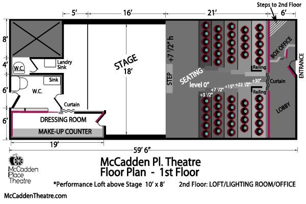 McCadden Pl. Theatre Floor Plan 1st Floor