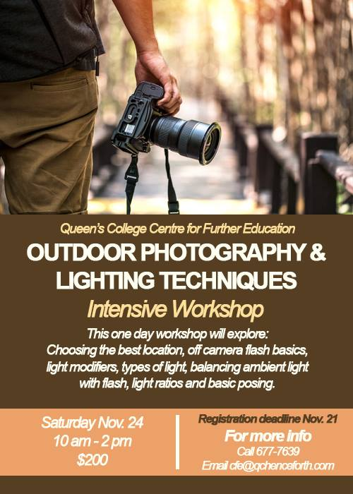 Outdoor Photography & Lighting Techniques Workshop