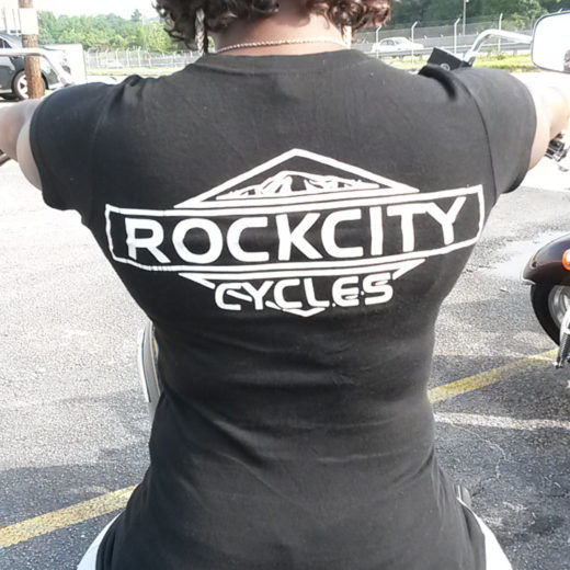 Rock City Cycles Women's Fitted Tee