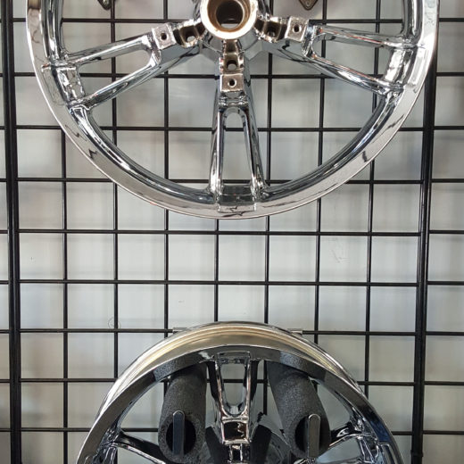 19″ Chrome Front & Rear Wheel w/core