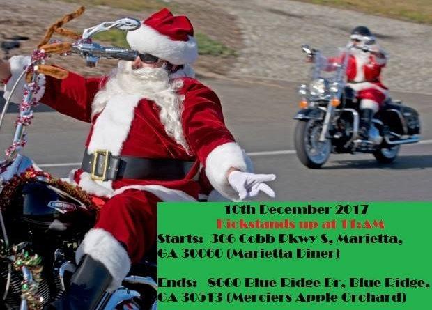 Christmas Ride 2017 – Sunday, December 11, 2017