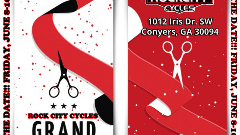 ROCK CITY CYCLES Grand Opening Weekend – Friday, June 8-10, 2018