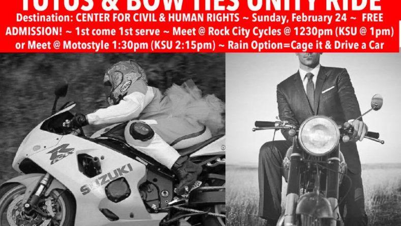 TUTUS & BOW TIE UNITY RIDE – Sun., 2/24/19