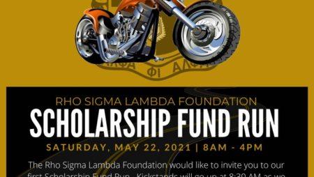 Rho Sigma Lambda Foundation SCHOLARSHIP FUND RUN – Sat., May 22, 2021 from 8a to 4p