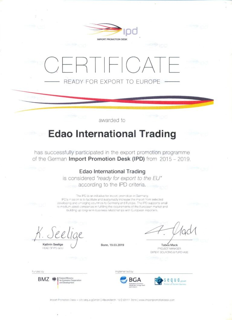 Edao Trading IPD Certification