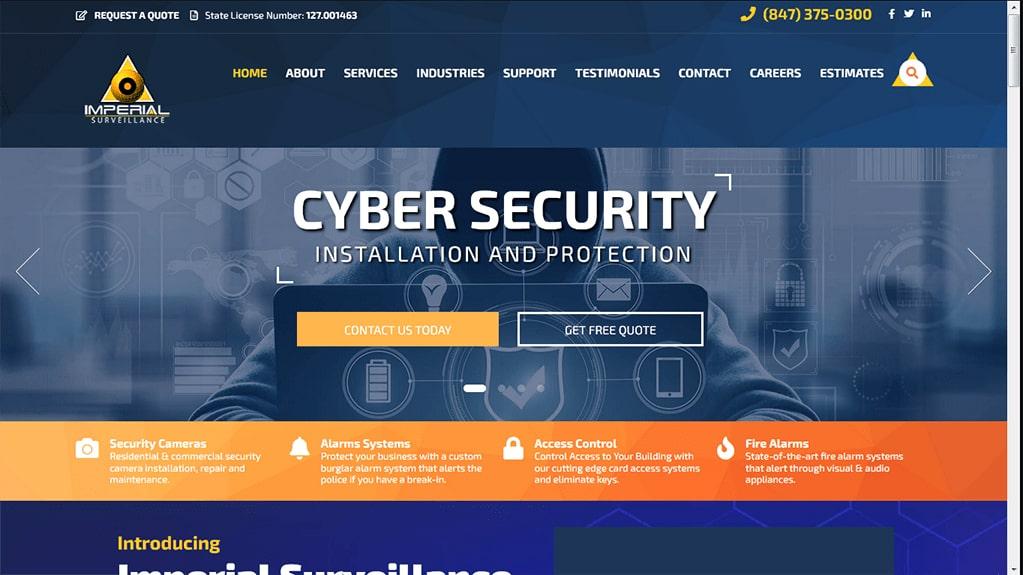 Imperial CCTV WordPress Website