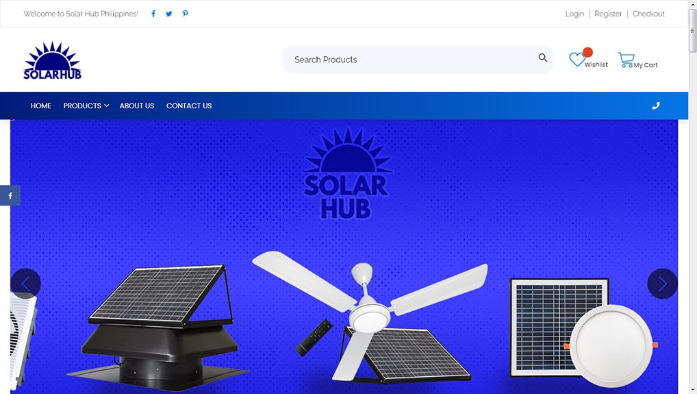 Solar Hub WooCommerce WebsiteWebsite