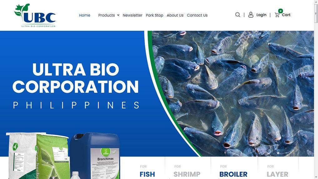 Ultra Bio WooCommerce Website