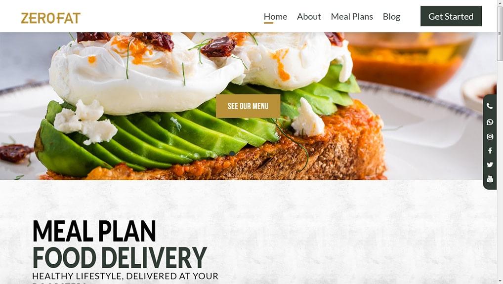 Zero Fat Laravel Website