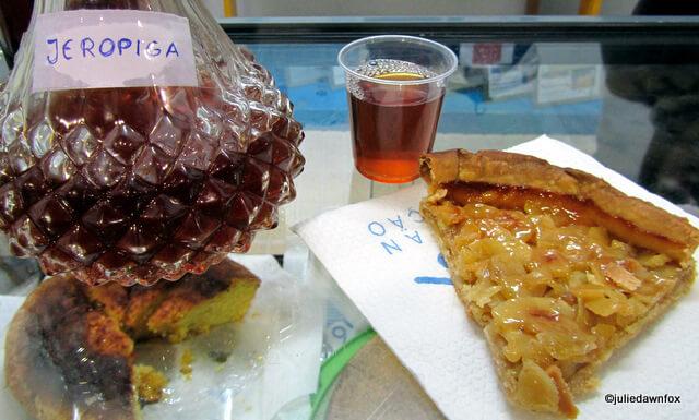 chestnut tart and jeropiga