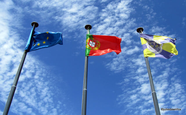 Flying the flags: European Union, Portugal and Santa Comba Dão