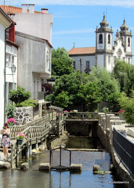 Wooden walkway along the stream, Santa Comba Dão
