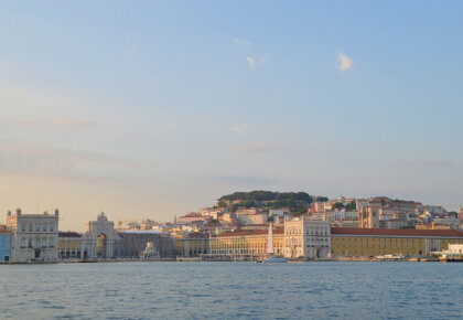 Lisbon seen from the river