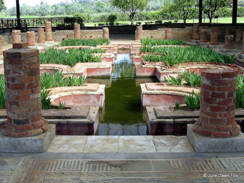 Interior gardens, Conimbriga