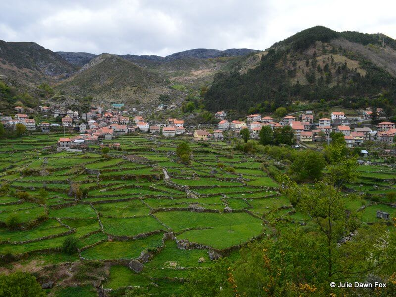 Tiny fields with stone walls, Peneda Gerês National Park