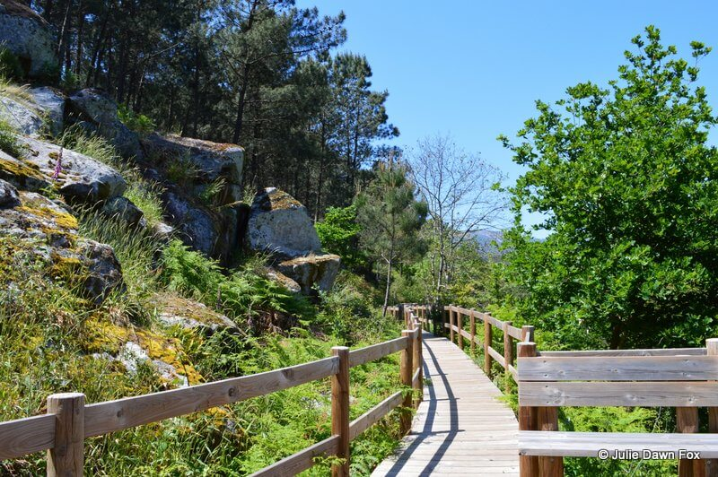 Wooden walkway along River Minho